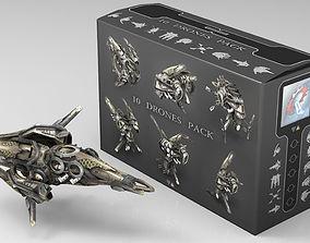 3D model 10 Drone SciFi Pack