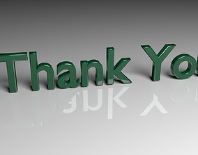 Disappear Thank You Text Animation 3D