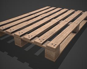 3D asset Low poly European Wood pallet 01 PBR Game Ready