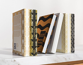 Group of beletristics books 3D model