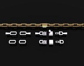HERMES STYLE LINK TENNIS BRACELET 3D printable model