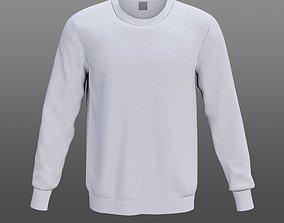 White sweatshirt 3D asset