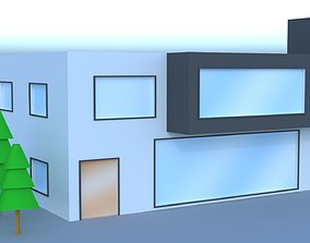 3D model low-poly Lowpoly Modern House