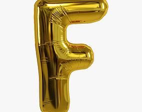 3D foil balloon gold F