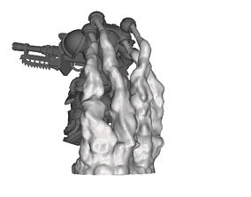 6x Primaris Suppressors Exhaust Smoke 3D printable model 3
