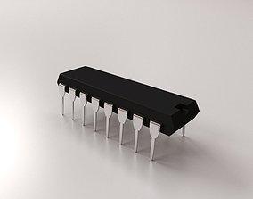 Microchip 3D model