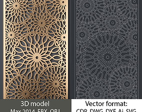 Decorative panel 160 3d model and vector
