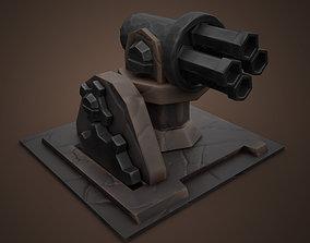 Stylized Cannon 3D asset