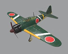 3D asset Japanees Navy A6M2 Carrier-Borne Fighter Zero