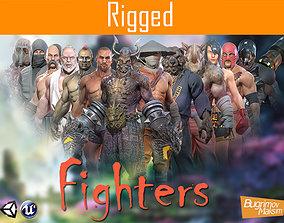 3D asset PBR Fighters Pack