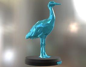 Poly Crane Bird 3D print model