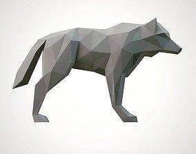 3D print model lowpoly wolf animal