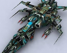 3DRT - Sci-Fi Fighters Fleet - Fighter 4 game-ready