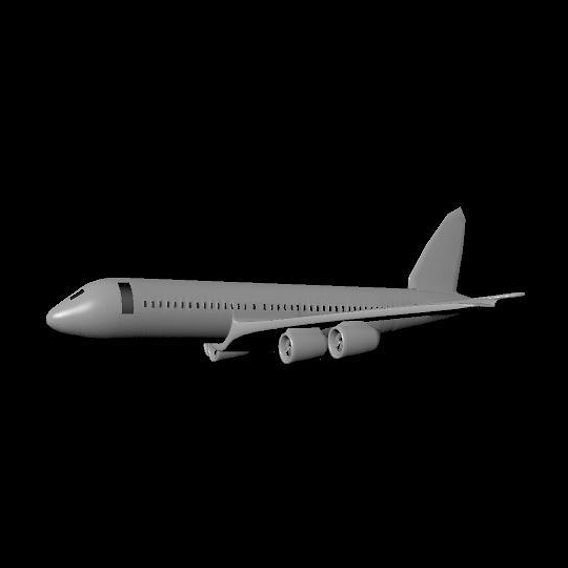 low poly airbus plane
