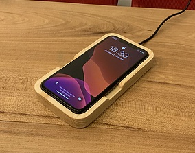 iPhone 11 Pro wireless charger base for CNC or 3D printer