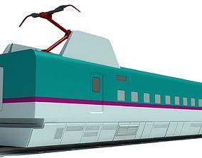 Speed Train Passenger Car 3D model