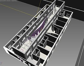VR / AR ready 3D two-story building