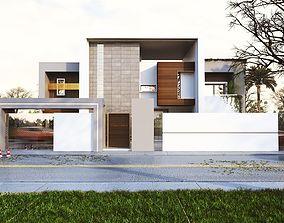 3D Modern house model village