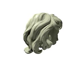 3D print model curly hair