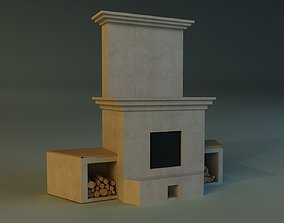 3D chimney Fireplace