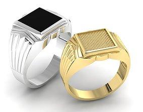 3D print model signet ring for men Two options