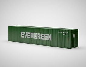 Cargo Container - EVERGREEN - Contenedor de carga 3D model