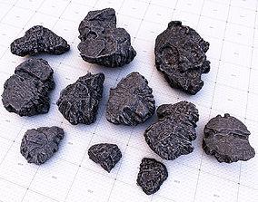 black ore rock set 3D model