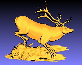 Deer wall decor 3D print model