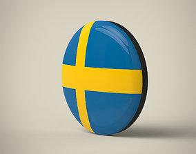3D model Sweden Badge