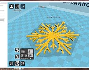 3D printable model christma-ball Snowflake