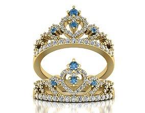 Crown ring 3d print model 0217