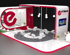3D Exhibition Stand Booth 72 sqm