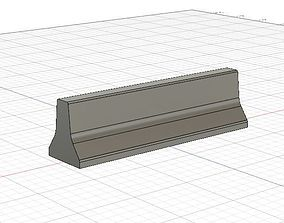1-32 Scale concrete jersey barrier for 3D printable model
