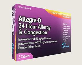 Allegra Allergy Medicine 3D asset