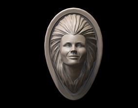 Woman Face 3d Model sculptures