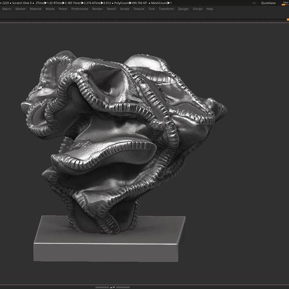 Modern Abstract Decorative sculpture 3d print model