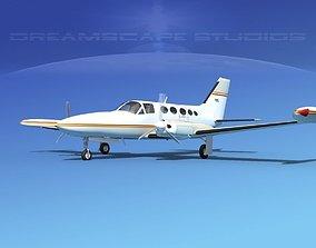 Cessna 414 Chancellor V03 3D model