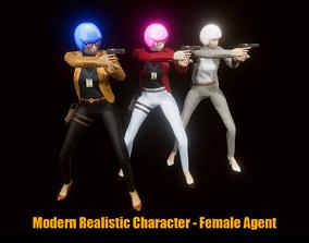 3D model Modern Realistic Character - Female Agent