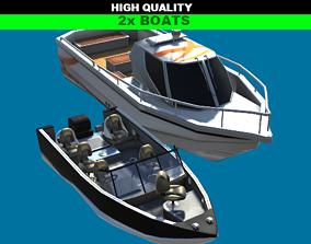3D asset HQ Motorboats