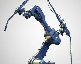 3D model Industrial Welding Arm Hires