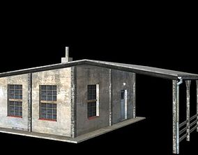 3D model low-poly old house ware