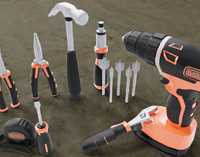 Assorted Hand Tools 3D model