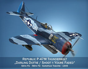 Republic P-47M Thunderbolt - Darling Dottie 3D model