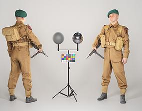 British commando character from World War 2 43 3D asset