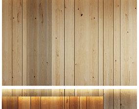 3D asset Wood panel set 7