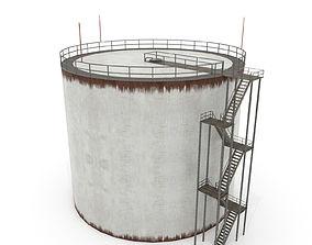 Oil Tank -Silo 3D model