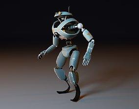 3D model rigged Cartoon Character Robot