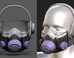 VR / AR ready Gas mask helmet 3d safety plastic