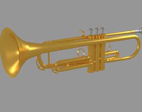 3D model VR / AR ready Trumpet sports