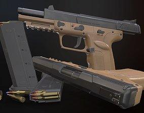 FN Five-seveN 3D model low-poly